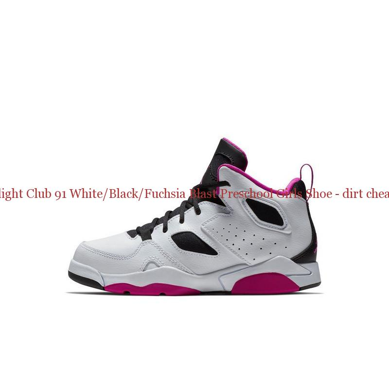 5e7effdbb50 70% Off Jordan Flight Club 91 White Black Fuchsia Blast Preschool Girls Shoe  – dirt cheap ...