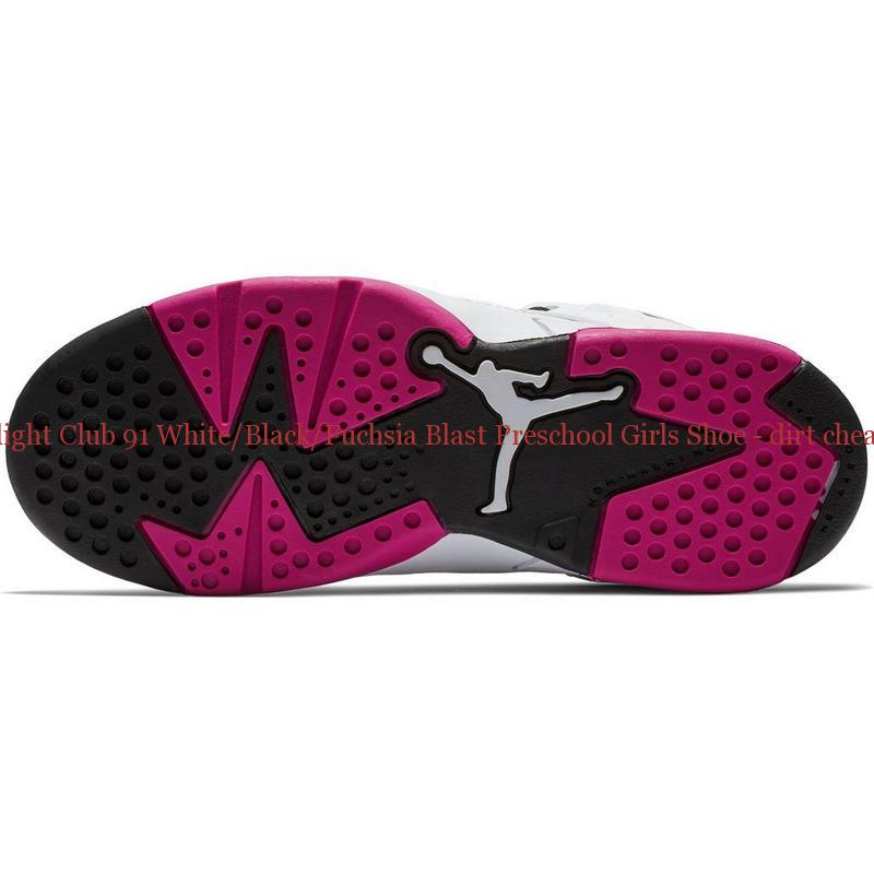 bed93f9d28bd2d 70% Off Jordan Flight Club 91 White Black Fuchsia Blast Preschool Girls Shoe  – dirt cheap jordans ...