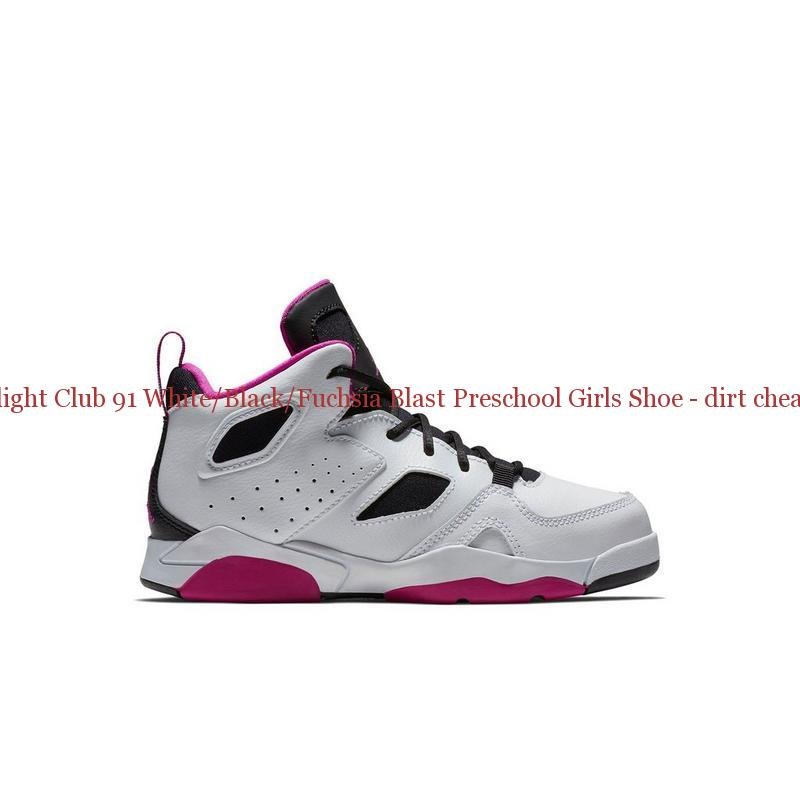 quality design 53e9a 5f655 70% Off Jordan Flight Club 91 White/Black/Fuchsia Blast Preschool Girls  Shoe - dirt cheap jordans - S0139