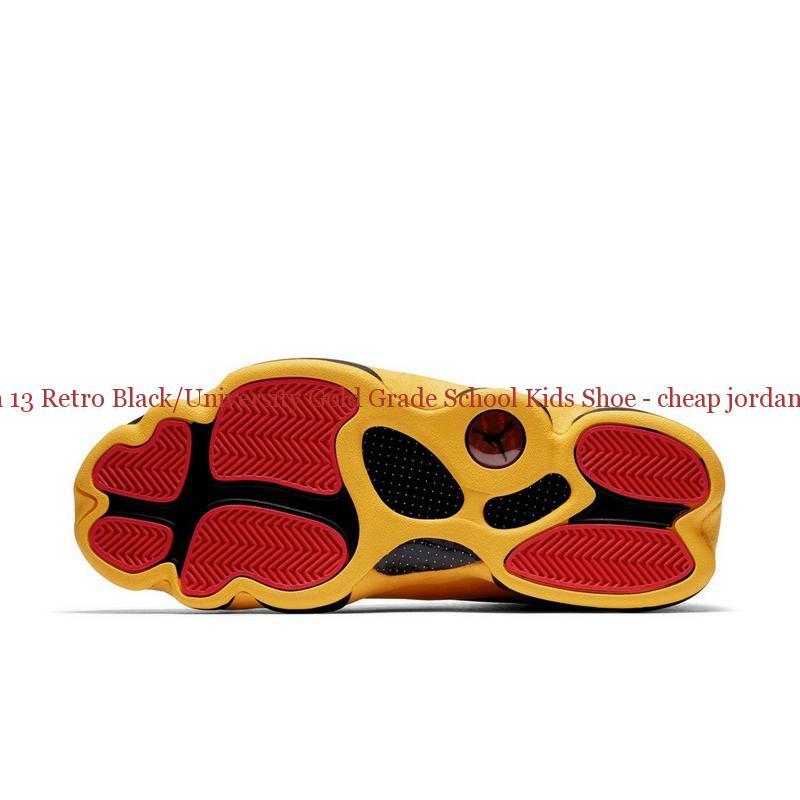 9806bfbcf Authentic Jordan 13 Retro Black University Gold Grade School Kids Shoe ...