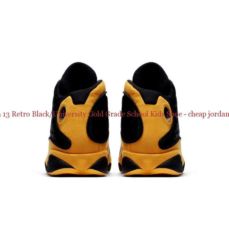 quality design 4316b 8b790 Authentic Jordan 13 Retro Black/University Gold Grade School Kids Shoe -  cheap jordans paypal - R0244