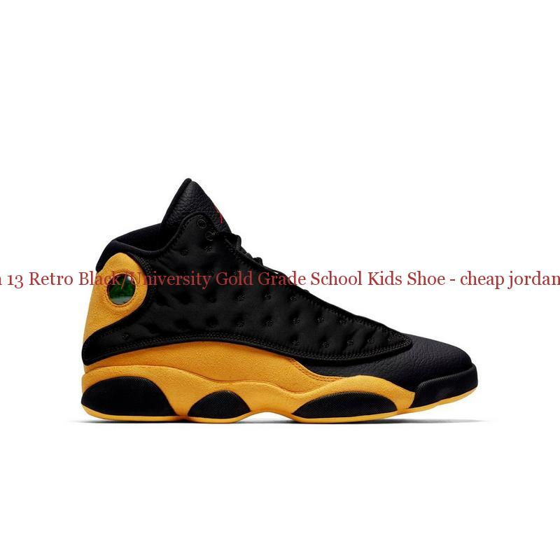 8276325e6652 Authentic Jordan 13 Retro Black University Gold Grade School Kids ...
