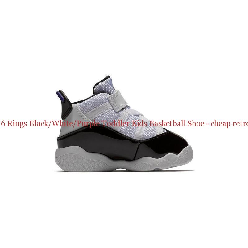 cbd0c9f89de5db Best Jordan 6 Rings Black White Purple Toddler Kids Basketball Shoe ...