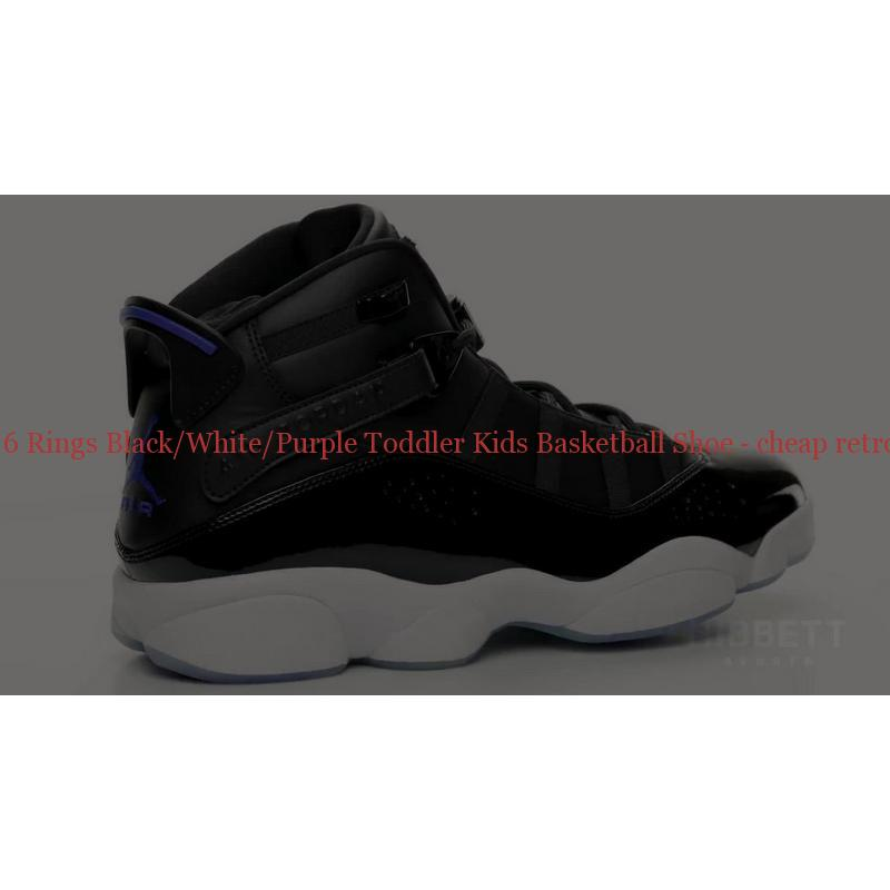 online store 77dbf f0fad Best Jordan 6 Rings Black White Purple Toddler Kids Basketball Shoe ...