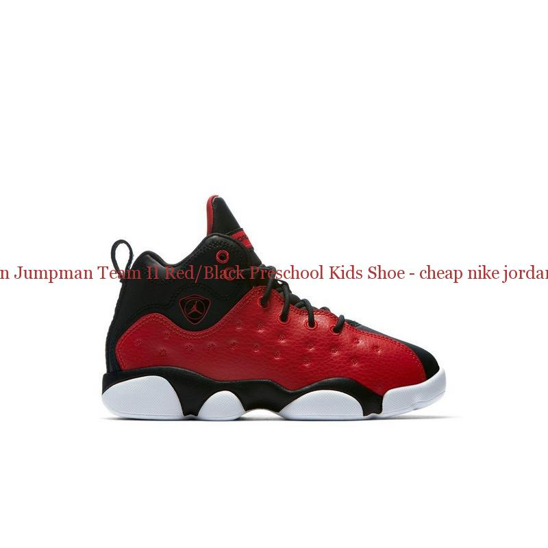 59e23909593a Best Jordan Jumpman Team II Red Black Preschool Kids Shoe – cheap ...