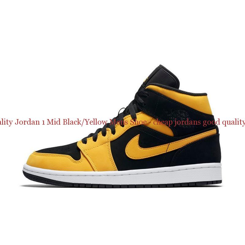 3d9f45ae8a High Quality Jordan 1 Mid Black Yellow Mens Shoe – cheap jordans ...