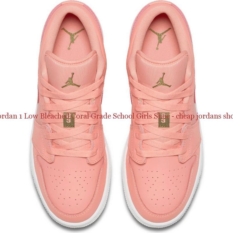 dd7e9357cae691 Original Jordan 1 Low Bleached Coral Grade School Girls Shoe – cheap ...