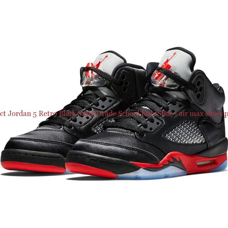 separation shoes 58d75 8b9e0 The factory direct Jordan 5 Retro Black Satin Grade School Kids Shoe - air  max shoes pictures - R0248